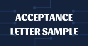 UNISA Acceptance Letter